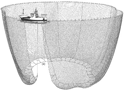 The WWW and the Purse Seine  –  the net is being hauled in.
