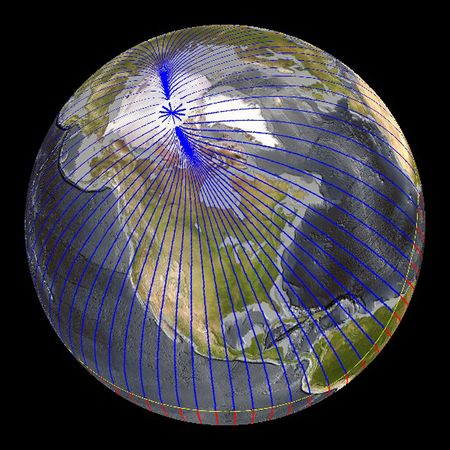 Shifting magnetic pole – 40km a year?