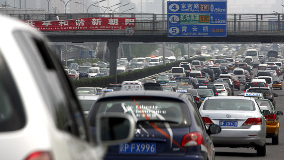 Traffic jam – China style…