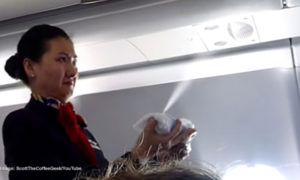 Buy airplane ticket, get sprayed for free.